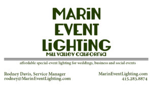 Marin Event Lighting for weddings and events