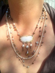 Pearls and Bead Necklace by Alexis Berger